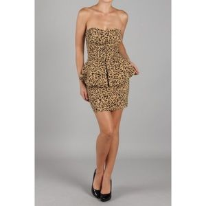 Dresses & Skirts - Leopard Peplum Dress